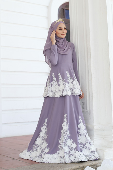 Belle Dress - Dusty Purple