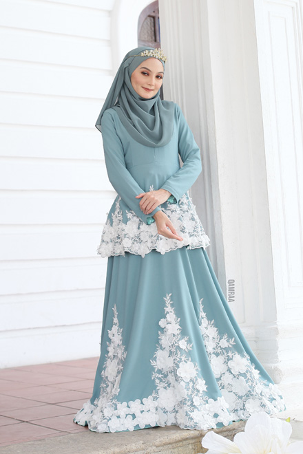 Belle Dress - Dusty Mint