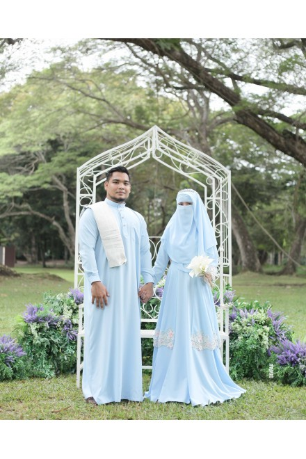 SET ANGGUN FRESS POWDER BLUE