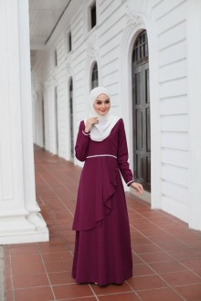 Durra Dress - Purple Plum