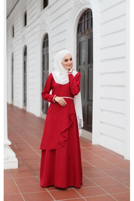 Durra Dress - Maroon