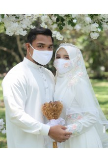 BRIDAL FACEMASK OFFWHITE