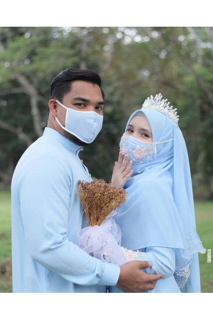 BRIDAL FACEMASK POWDER BLUE