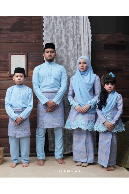 KURUNG ANOM FAMILIES - POWDER BLUE
