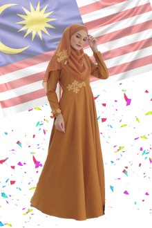 DRESS FARISHA GOLDEN
