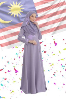 DRESS FARISHA DUSTY PURPLE