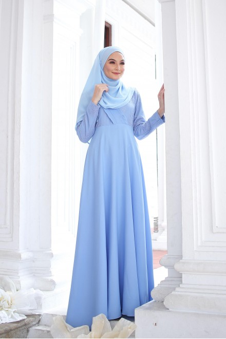Puteri Inara Dress Powder Blue