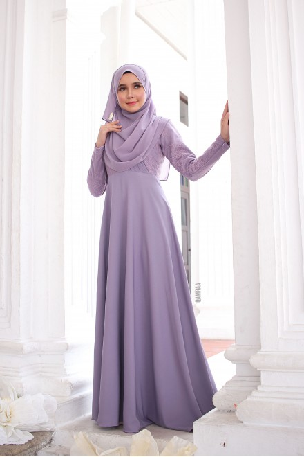 Puteri Inara Dress Dusty Purple