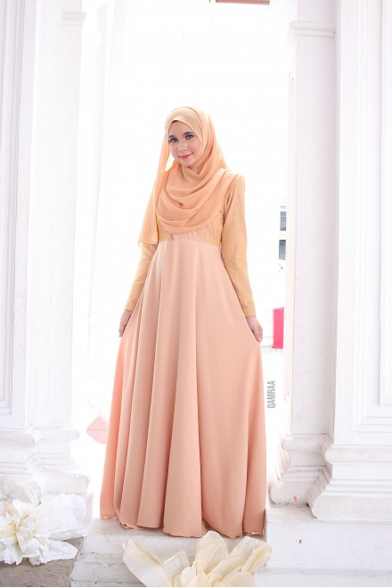 Puteri Inara Dress Champagne
