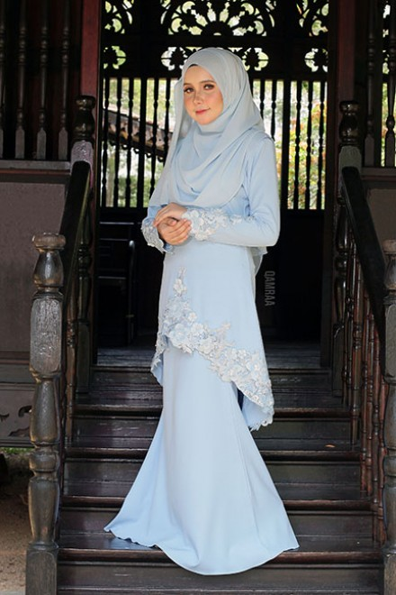 Kurung Rishka Powder Blue