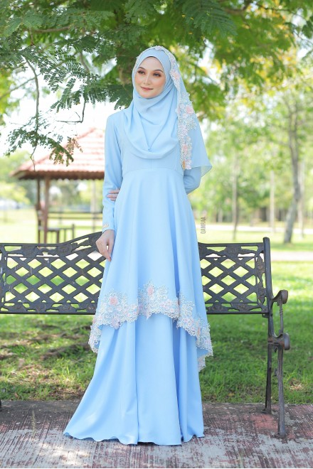 Xaviera Dress Powder Blue