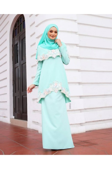 Xylia Kurung Mint Green