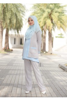 Wafiyah Premium Powder Blue Grey