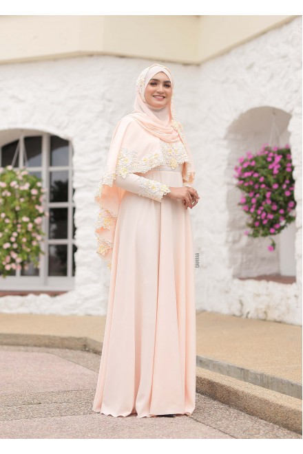 XANDRA DRESS MILKY CARROT