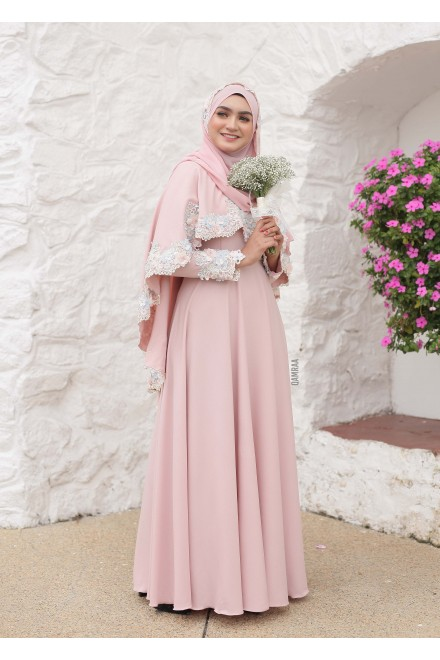 XANDRA DRESS ROSEGOLD