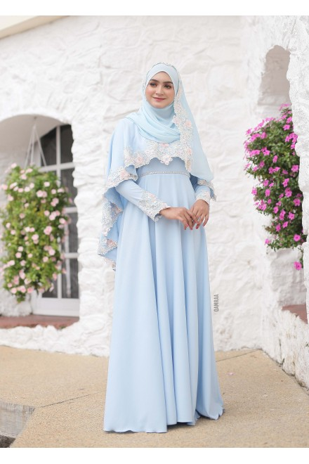 XANDRA DRESS POWDER BLUE
