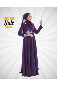 DRESS FARISHA EGGPLANT