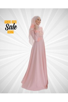 DRESS FARISHA PEACH PUFF