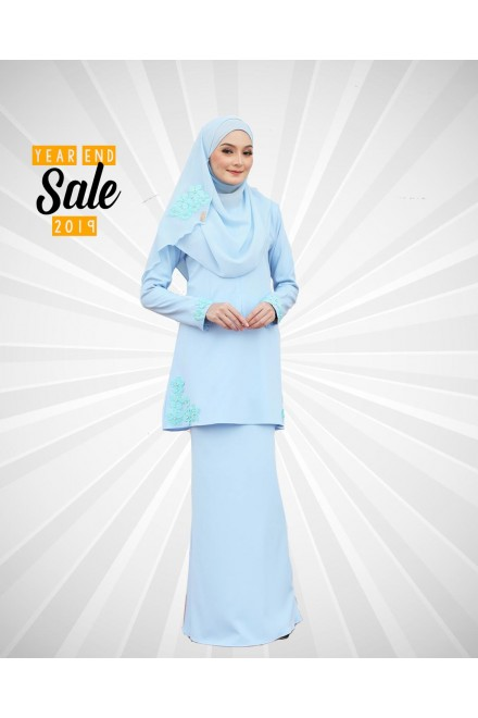 Kurung Fiska Powder Blue